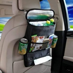 4aKid Safety Car Back Seat Organizer with Cooler Bag - Black Car Safety - 4aKid