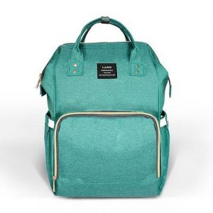 Aqua backpack nappy bag