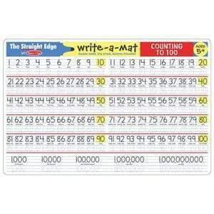 Melissa & Doug Melissa & Doug - Counting to 100 Color-A-Mat Educational Toys - 4aKid
