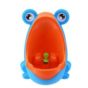 4aKid Safety Easy-Peesy Froggy Urinal - Blue/Orange Potty Training - 4aKid