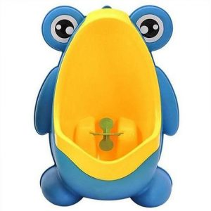 4aKid Safety Easy-Peesy Froggy Urinal - Blue/Yellow Potty Training - 4aKid