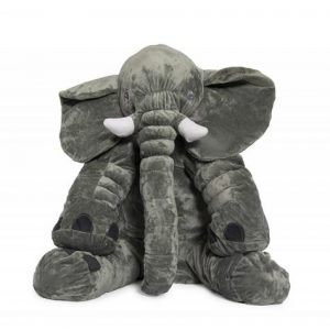 Jeronimo Grey Elephant Baby Pillow - Medium Size Plush Toys - 4aKid