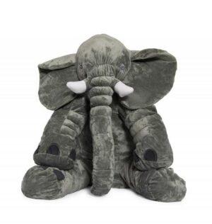 Jeronimo Grey Elephant Baby Pillow - Medium Size Plush Toys - 4aKid