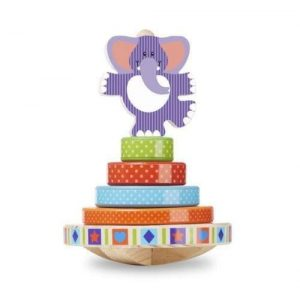 An elephant rocking stacker by Melissa & Doug.