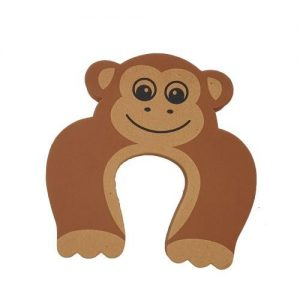 4aKid Safety Foam Door Stopper - Brown Monkey Home Safety - 4aKid