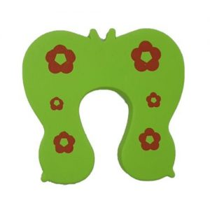 4aKid Safety Foam Door Stopper - Green Butterfly Home Safety - 4aKid