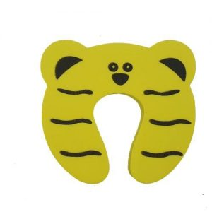 4aKid Safety Foam Door Stopper - Yellow Tiger Home Safety - 4aKid