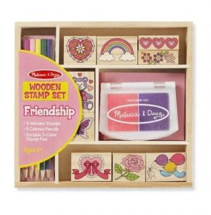 Melissa & Doug Melissa & Doug Wooden Stamp Set - Friendship Educational Toys - 4aKid