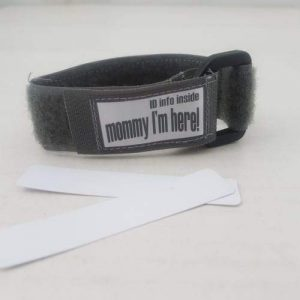 4aKid Safety Kids ID Wristband - Grey Kids Safety - 4aKid