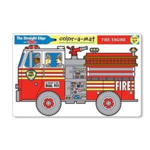 Melissa & Doug Melissa & Doug - Fire Engine Color-A-Mat Educational Toys - 4aKid