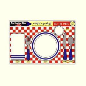 Melissa & Doug Melissa & Doug - Set The Table Color-A-Mat Educational Toys - 4aKid