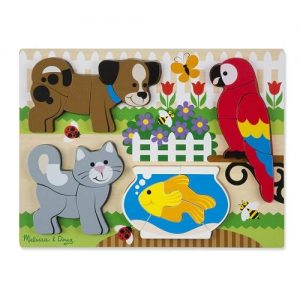 Melissa & Doug Melissa & Doug Chunky Jigsaw Puzzle - Pets Educational Toys - 4aKid