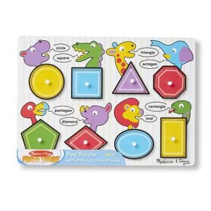 A peg puzzle from Melissa and doug