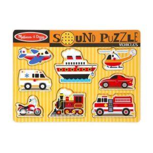 Melissa & Doug Melissa & Doug Sound Puzzle - Vehicles Educational Toys - 4aKid