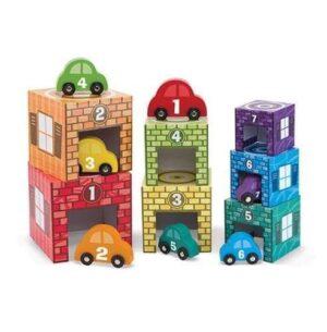 Melissa & Doug Melissa & Doug Nesting & Sorting - Garages & Cars Educational Toys - 4aKid