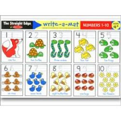 Melissa & Doug Melissa & Doug - Numbers 1-10 Color-A-Mat Educational Toys - 4aKid
