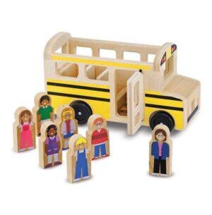 Melissa & Doug Melissa & Doug Wooden - Classic School Bus Educational Toys - 4aKid