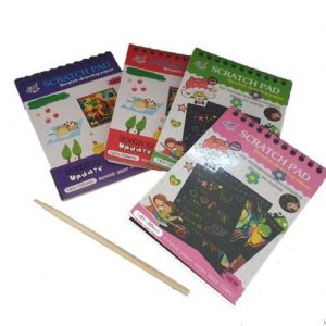 4aKid Scratch Paper Note Pad - Assorted Colours Arts & Crafts - 4aKid