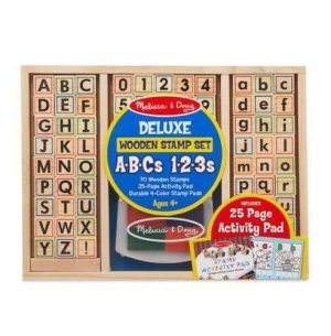 Melissa & Doug Melissa & Doug Wooden Stamp Set - ABC's Educational Toys - 4aKid