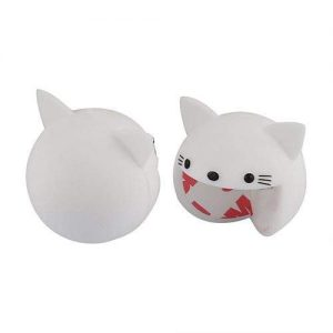 A set of white kitty corner guards. One is facing the front and the other is facing the back.