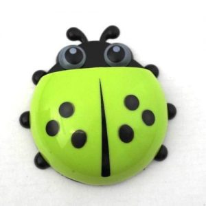 4aKid Safety Ladybug Toothbrush Holder - Green Self-care Products - 4aKid