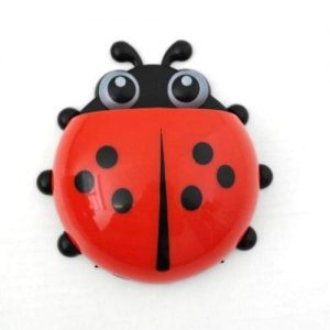 4aKid Safety Ladybug Toothbrush Holder - Red Self-care Products - 4aKid