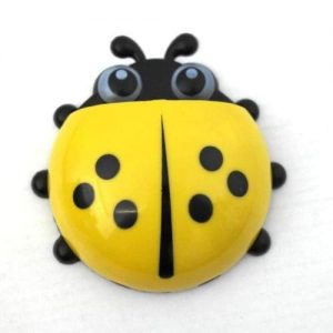 4aKid Safety Ladybug Toothbrush Holder - Yellow Self-care Products - 4aKid