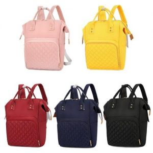4aKid Quilted Nylon Backpack Baby Bag - Assorted Colours grey Diaper Bags - 4aKid