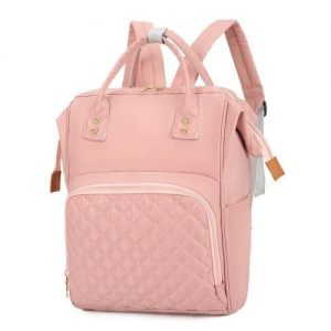 4aKid Quilted Nylon Backpack Baby Bag - Assorted Colours pink Diaper Bags - 4aKid