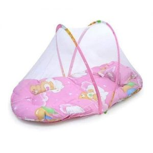 4aKid Safety Small Baby Sleeping Tent – Pink Sleeping - 4aKid