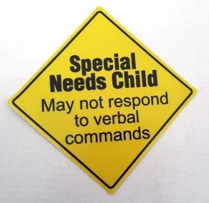 4aKid Safety Sticker - Special Needs Child May Not Respond Travel Safety - 4aKid