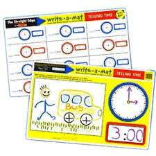 Melissa & Doug Melissa & Doug - Telling Time Color-A-Mat Educational Toys - 4aKid